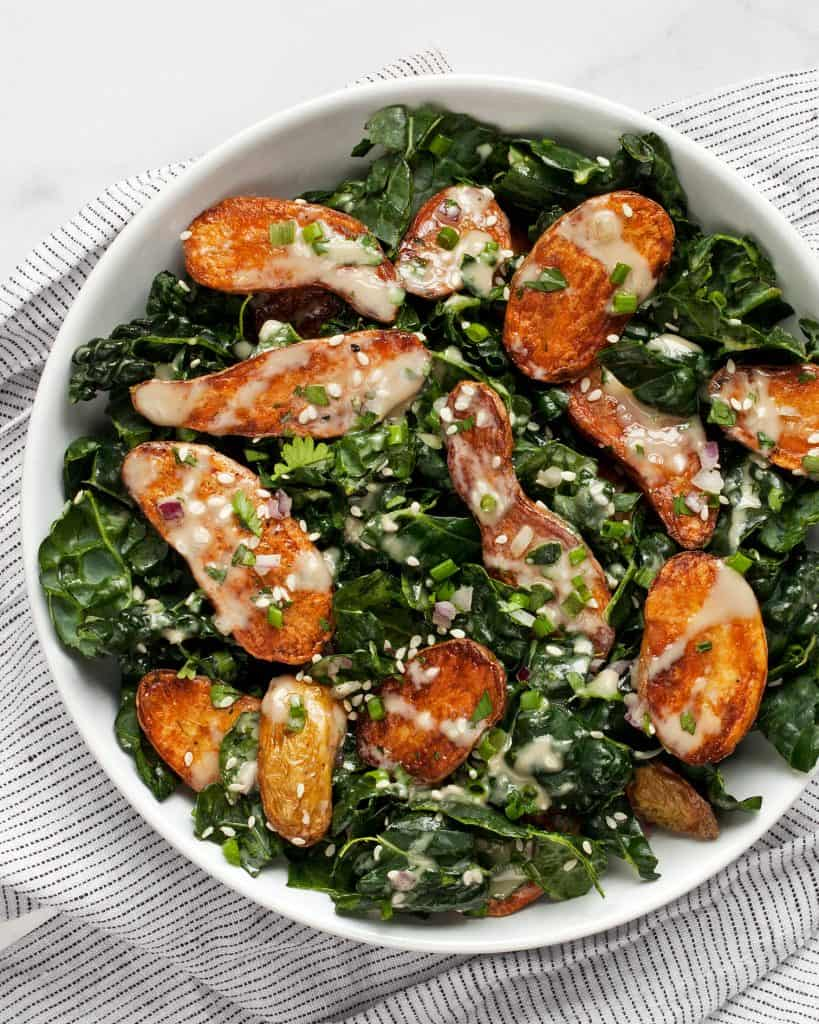 Kale Fingerling Potato Salad