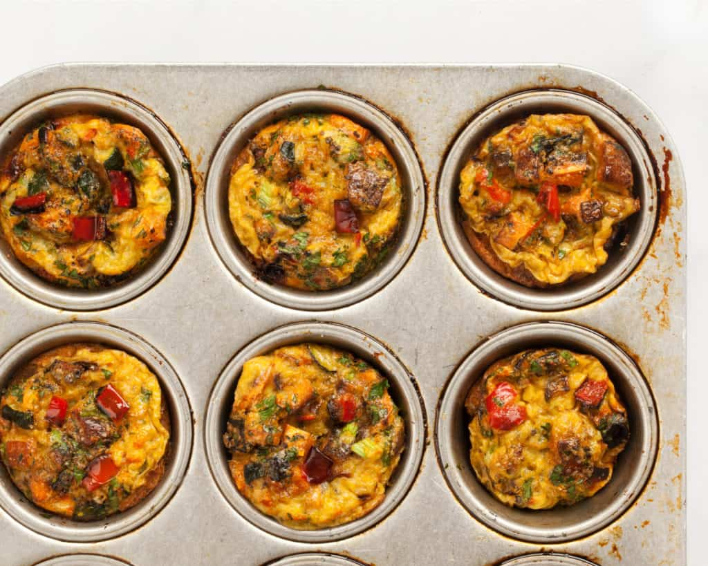 Spicy Roasted Vegetable Egg Cups