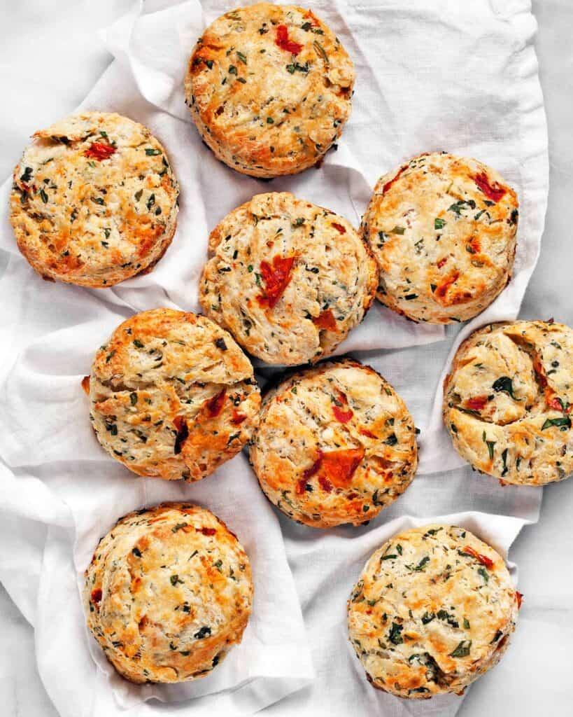 Tomato Arugula Feta Biscuits