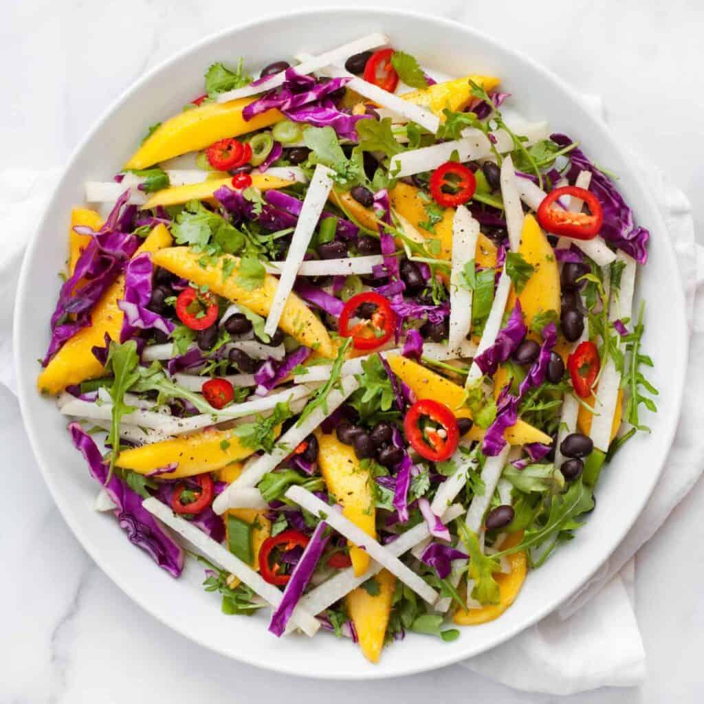 Mango Jicama Black Bean Salad