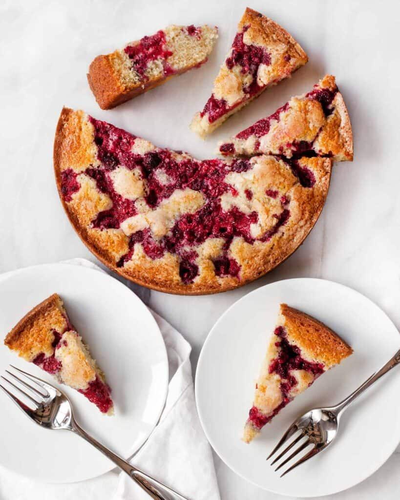 Raspberry Buttermilk Cake