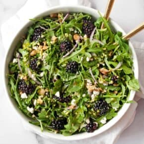 Blackberry Salad with Basil Pesto Vinaigrette