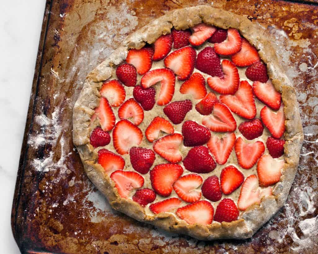 Strawberry Pistachio Galette