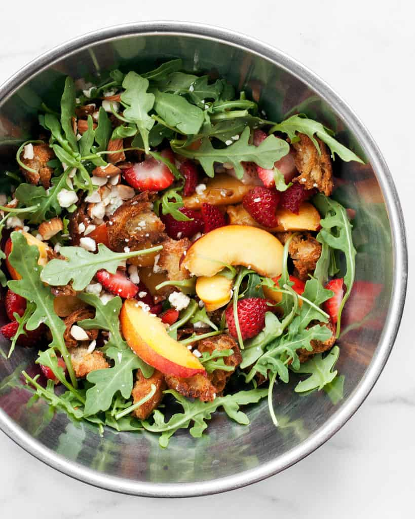 Strawberry Nectarine Panzanella