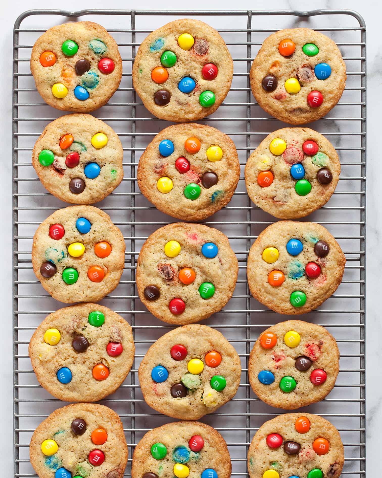 Crispy M&M Cookies