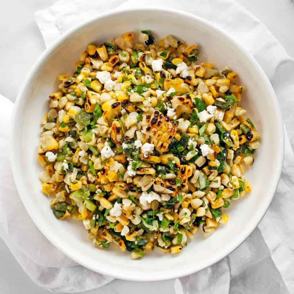 Grilled Corn Poblano Salad