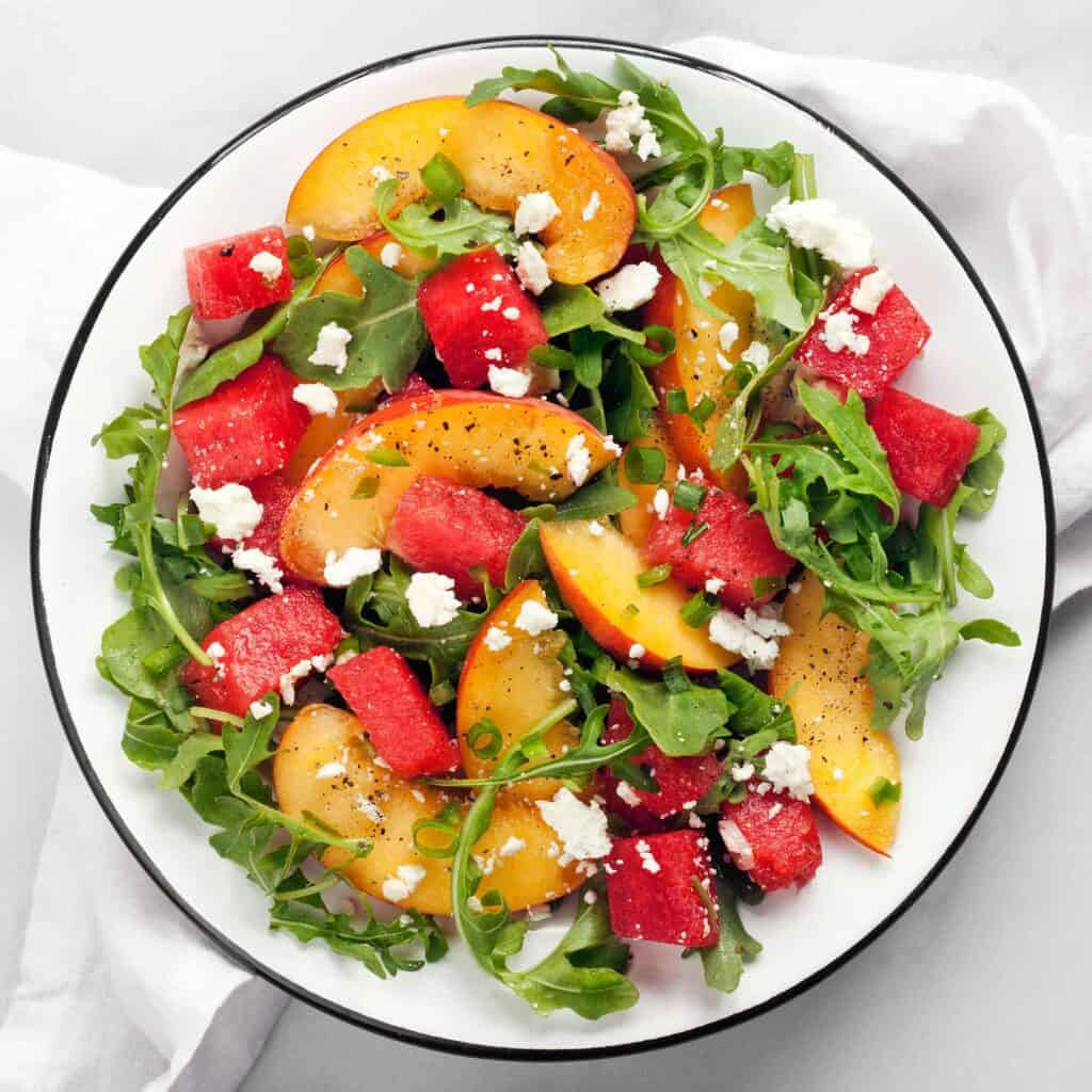 Watermelon Peach Salad