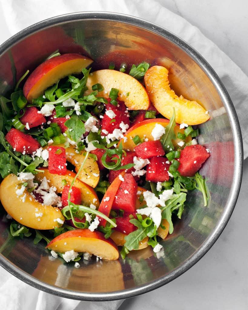 Watermelon Peach Salad