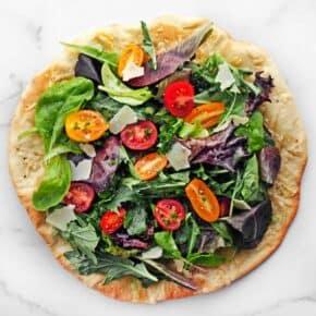 Mixed Greens Salad Pizza