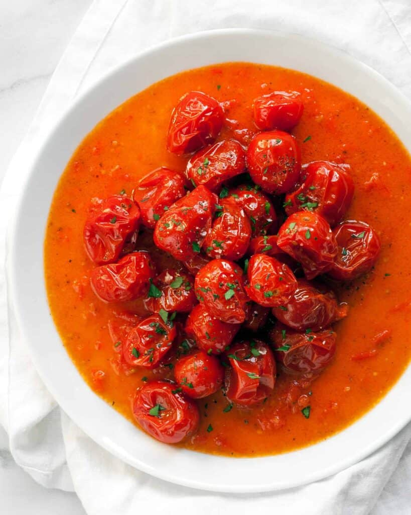 Roasted Cherry Tomato Vinaigrette