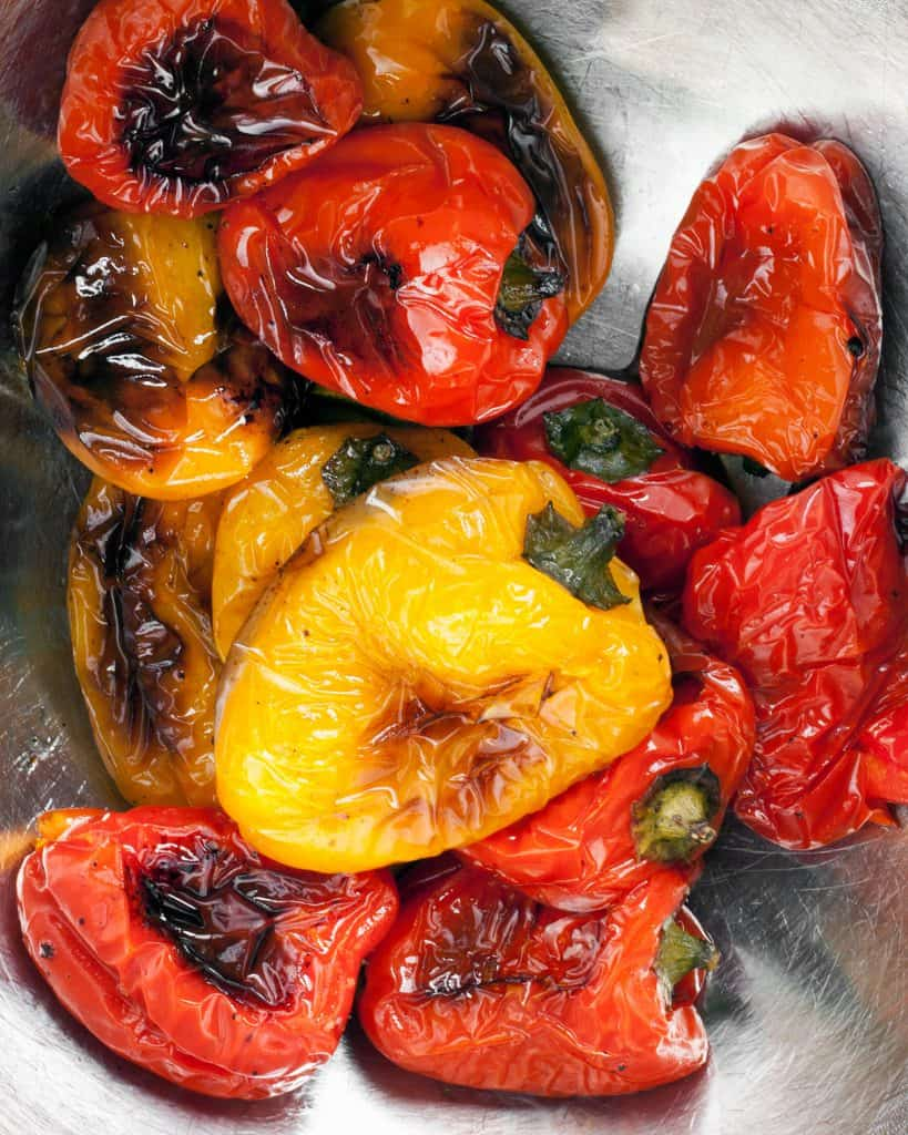 Marinated Roasted Sweet Peppers