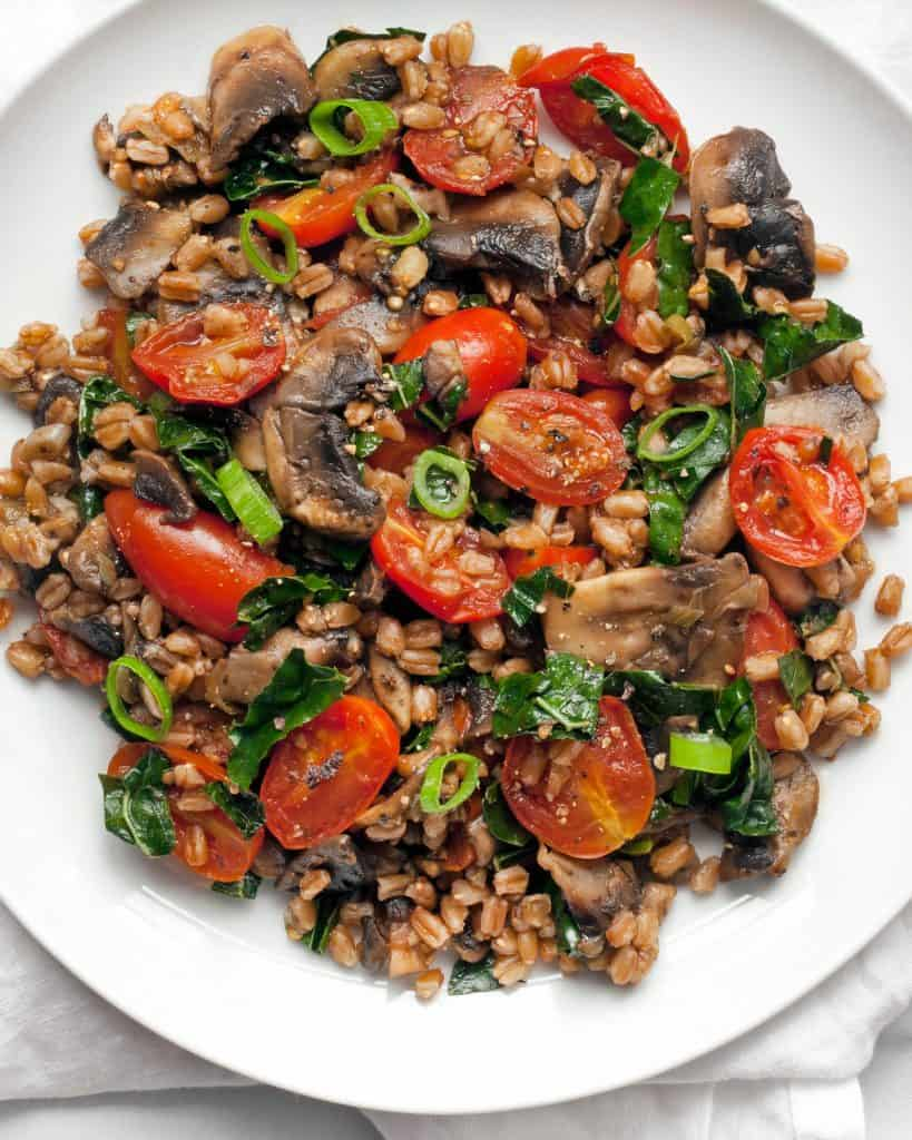 Mushroom Tomato Farro