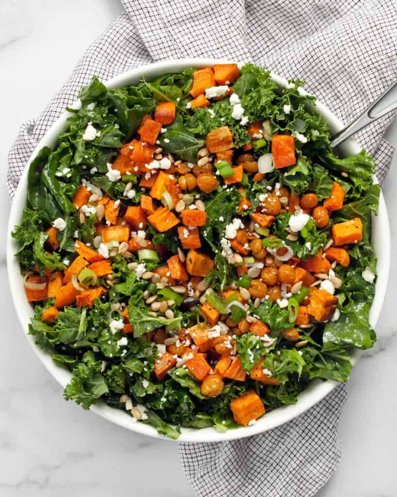 Sweet Potato Chickpea Kale Salad