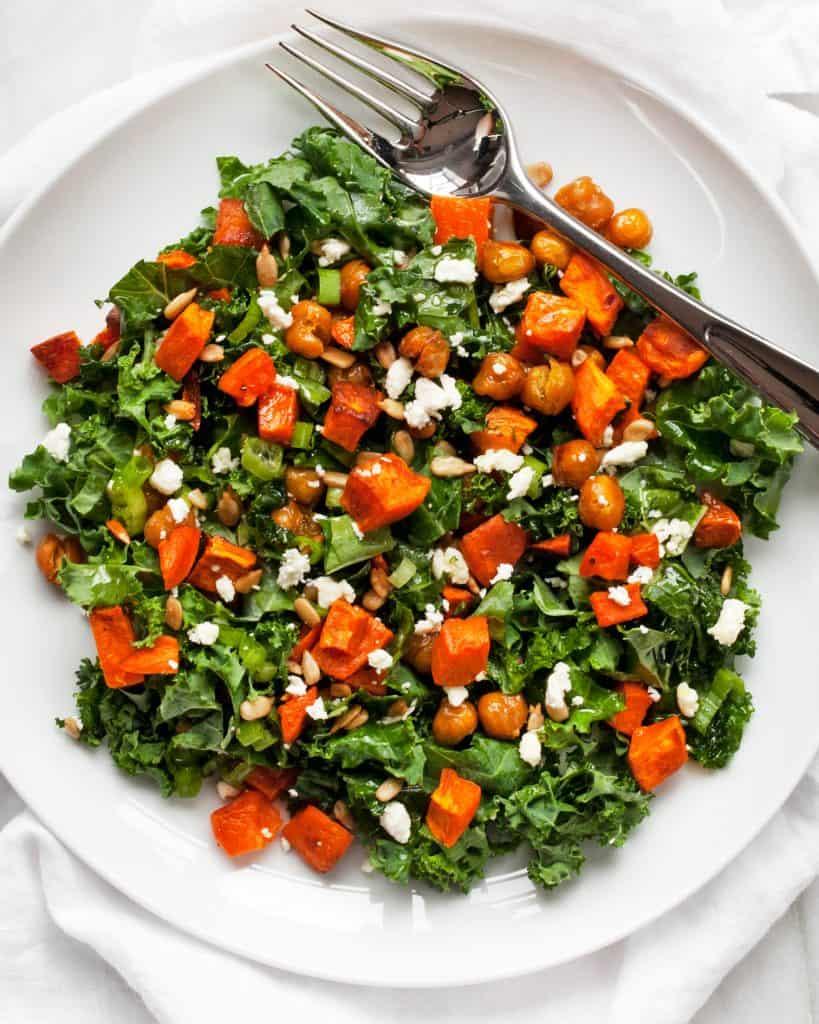 Sweet Potato Chickpea Kale Salad