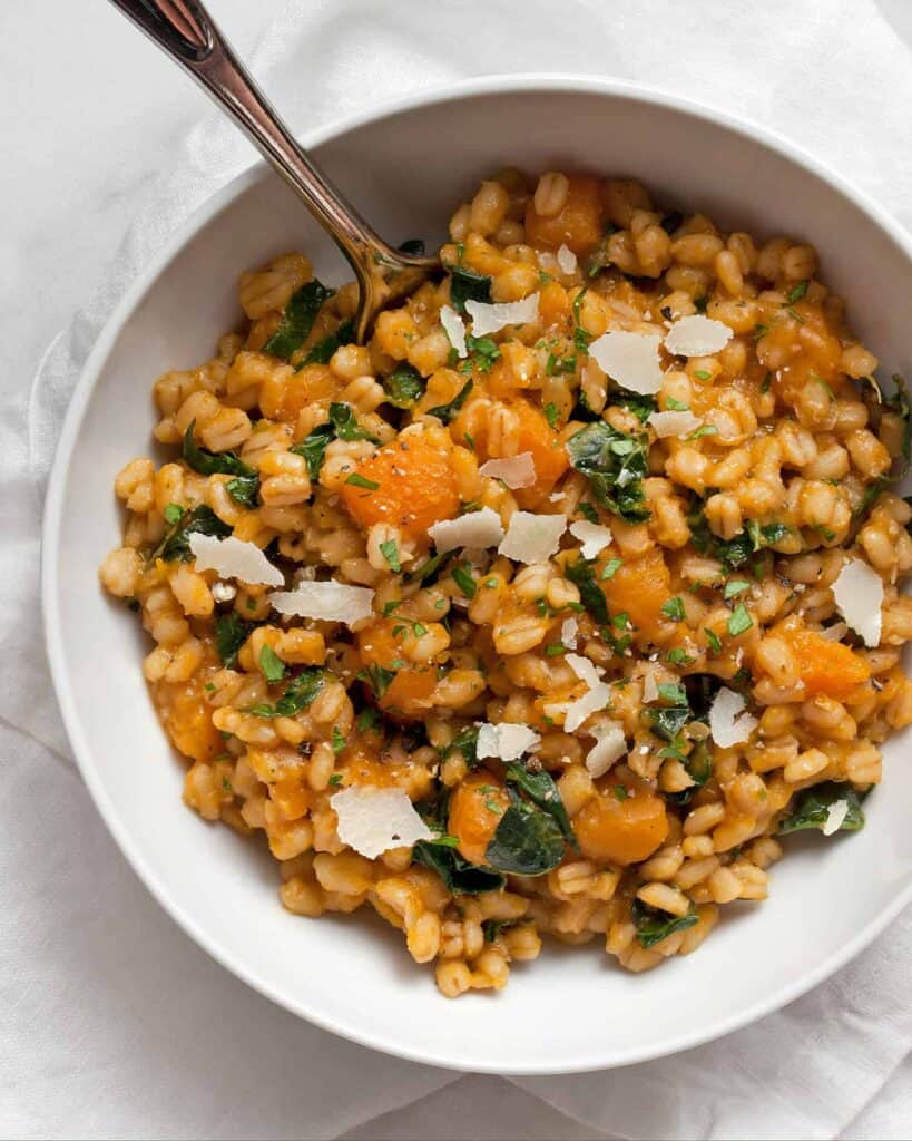 Butternut Squash Baked Barley Risotto