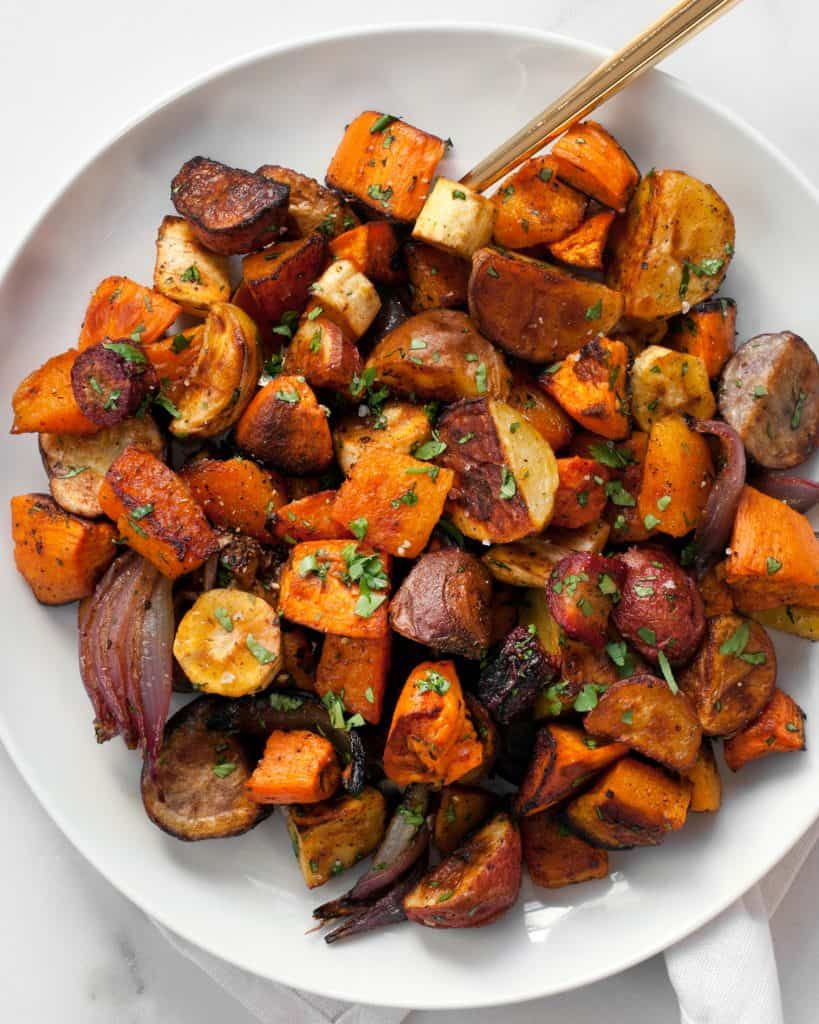 Chili Lime Roasted Root Vegetables