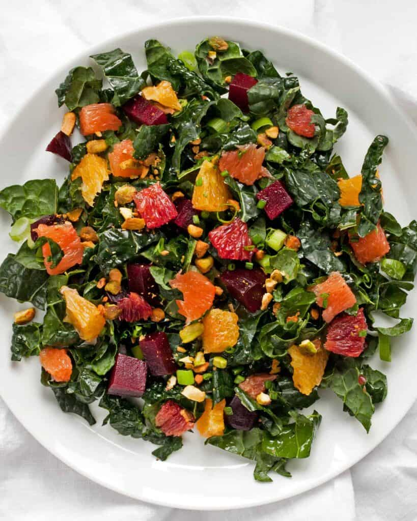Beet Orange Kale Salad