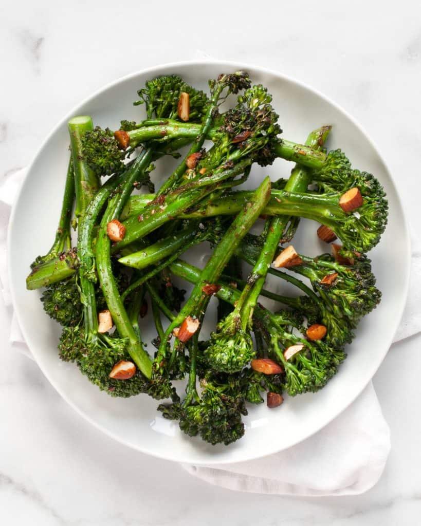 Sauteed Broccolini Spiced Almonds