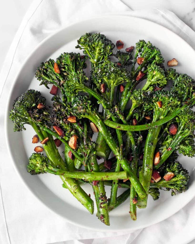 Sautéed Broccolini With Spiced Almonds