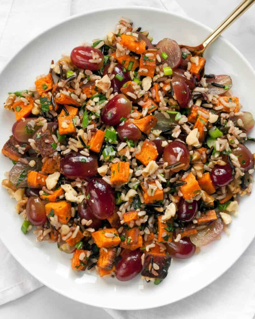 Sweet Potato Grape Wild Rice