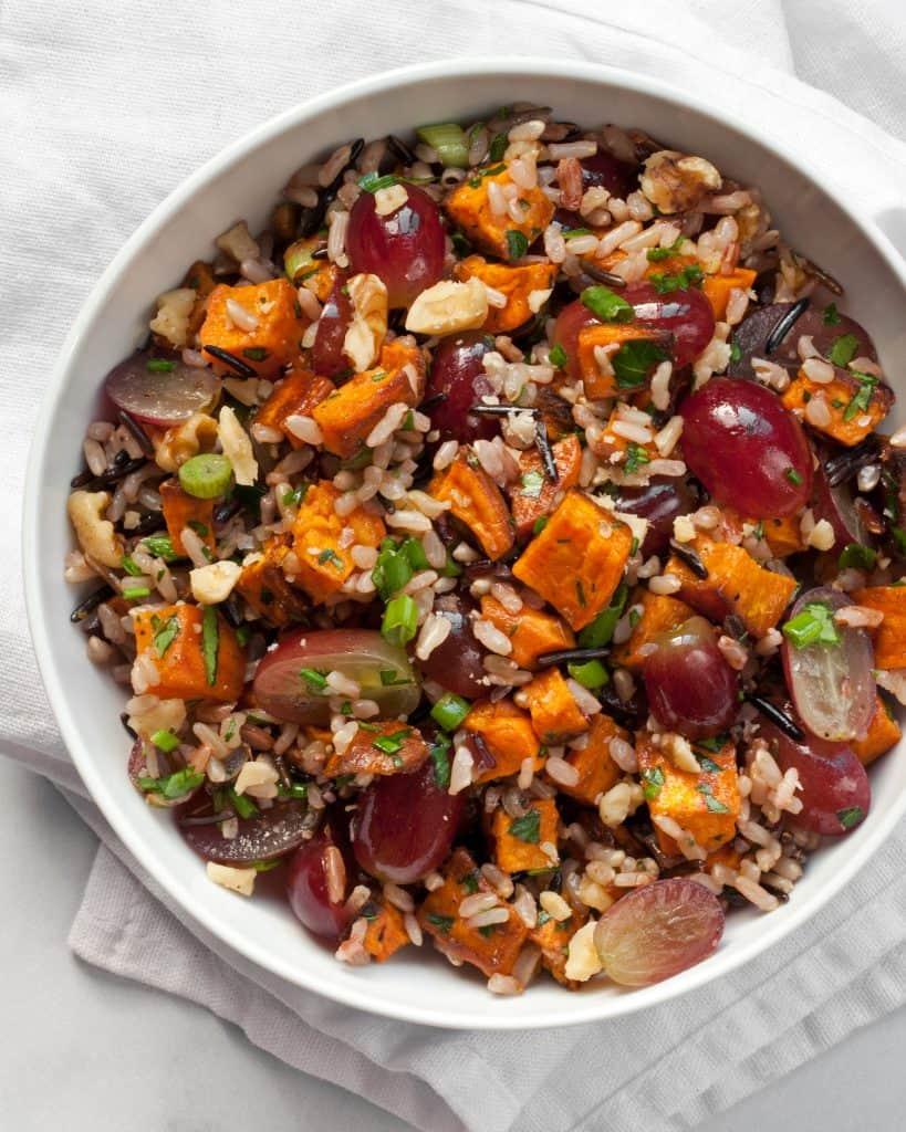 Sweet Potato Grape Wild Rice Salad