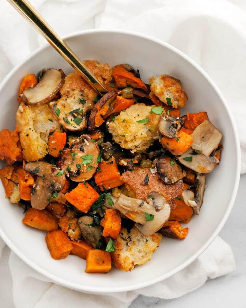 Sweet Potato Mushroom Stuffing