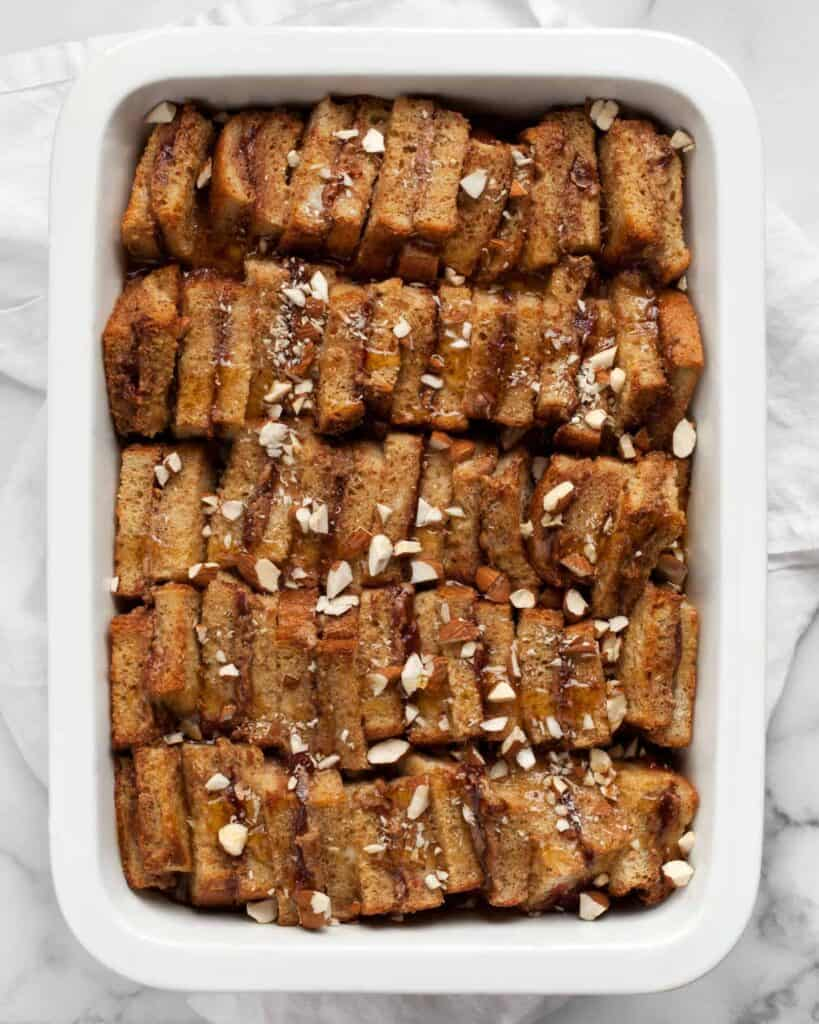 Baked Almond Butter And Jelly French Toast