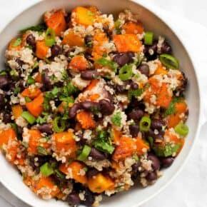 Butternut Squash Black Bean Quinoa
