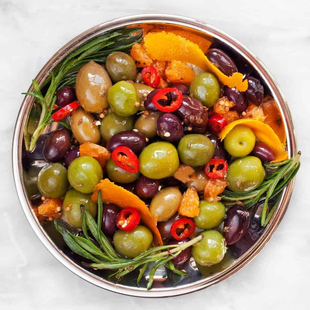 Citrus Marinated Olives