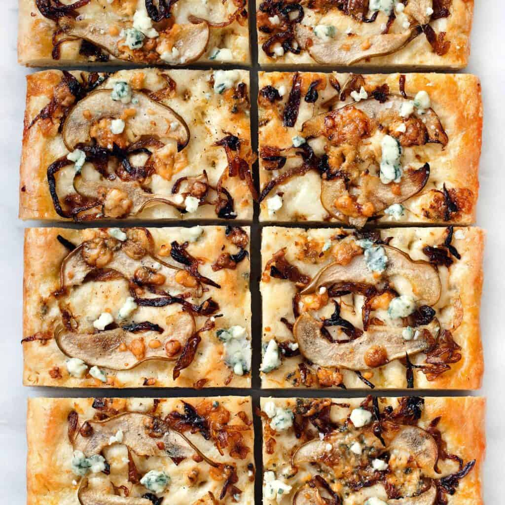 Pear Blue Cheese Onion Focaccia