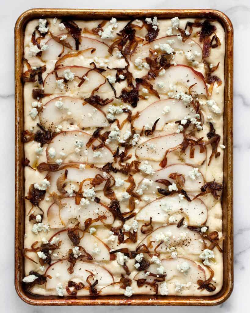 Pear Blue Cheese Onion Focaccia