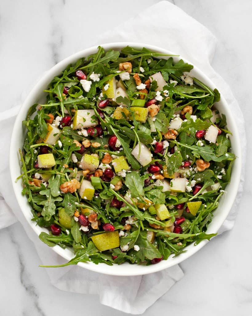 Pear Pomegranate Arugula Salad