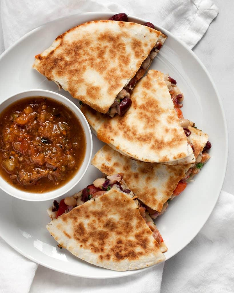 Three Bean Quesadillas