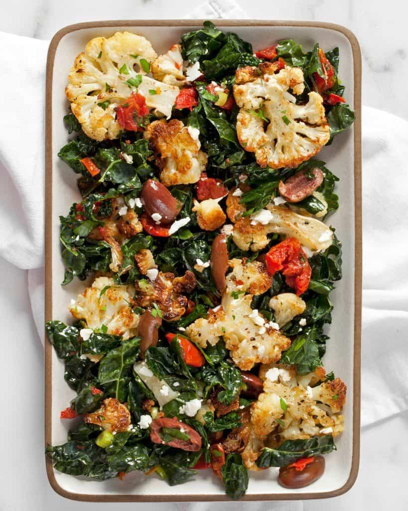 Roasted Cauliflower Kale Salad