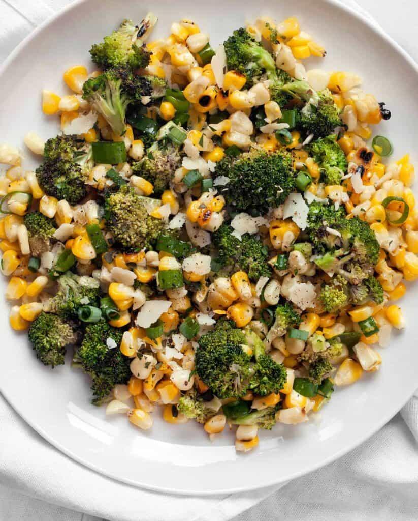 Grilled Corn Broccoli Salad