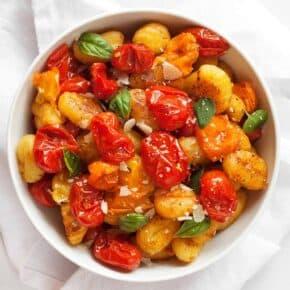 Sheet Pan Cherry Tomato Gnocchi