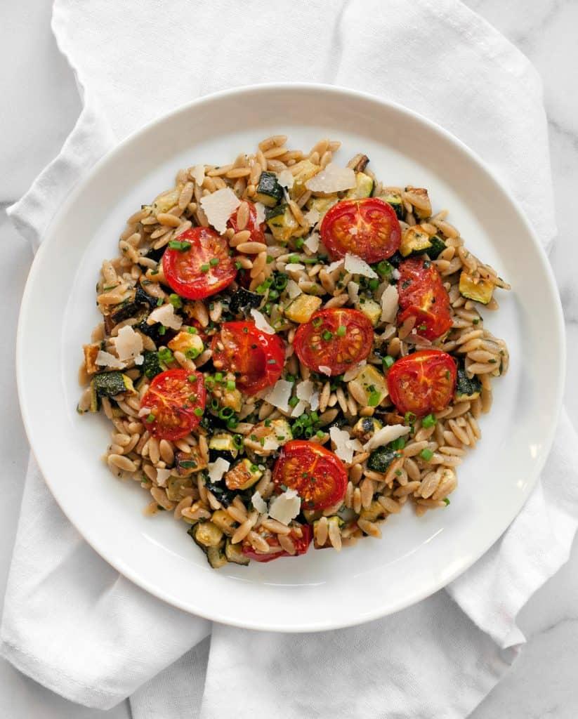30-Minute Tomato Zucchini Orzo