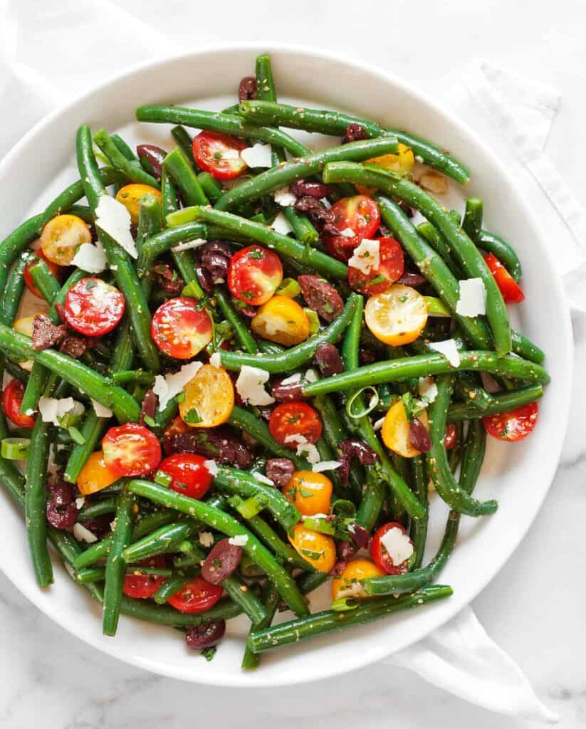 Green Bean Tomato Olive Salad