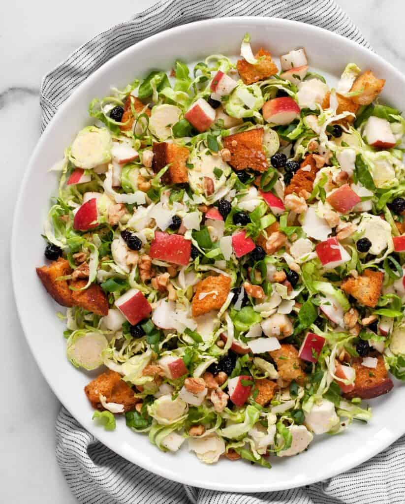 Brussels Sprout Apple Salad
