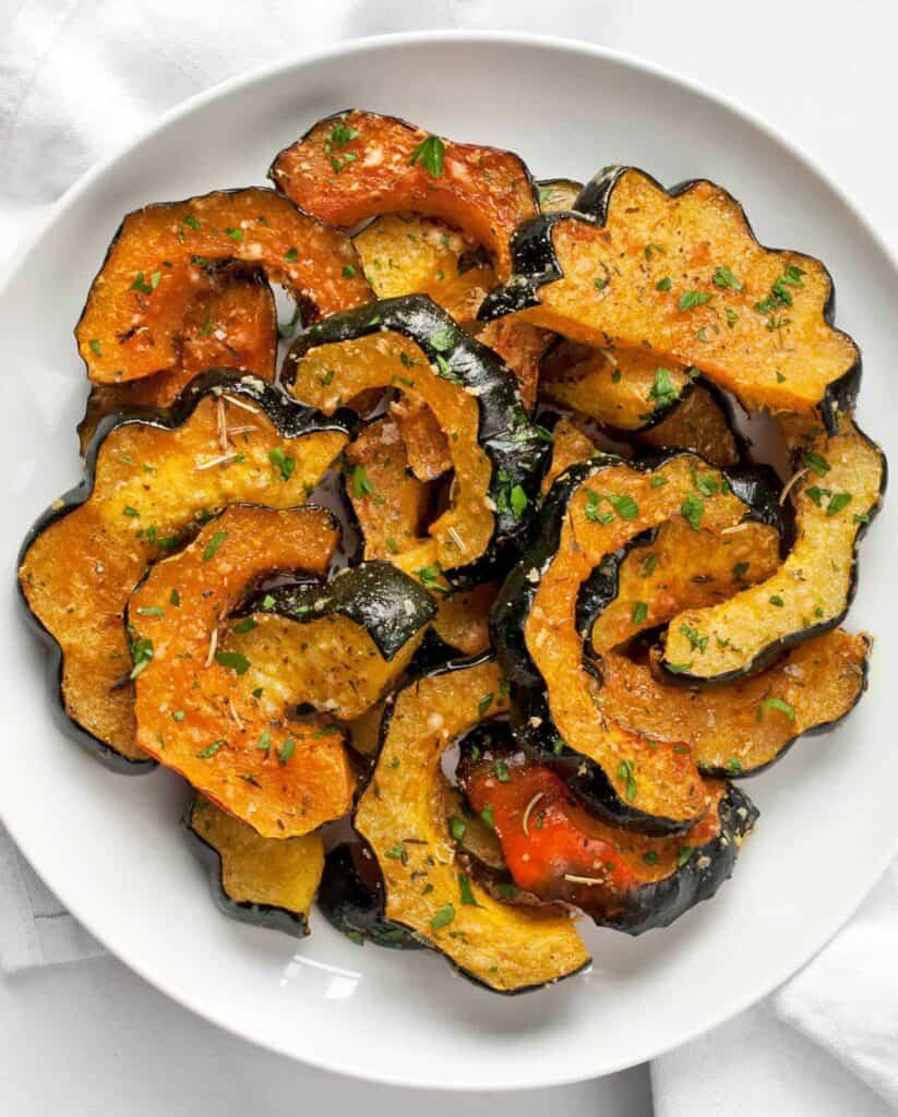 Parmesan Herb Roasted Acorn Squash