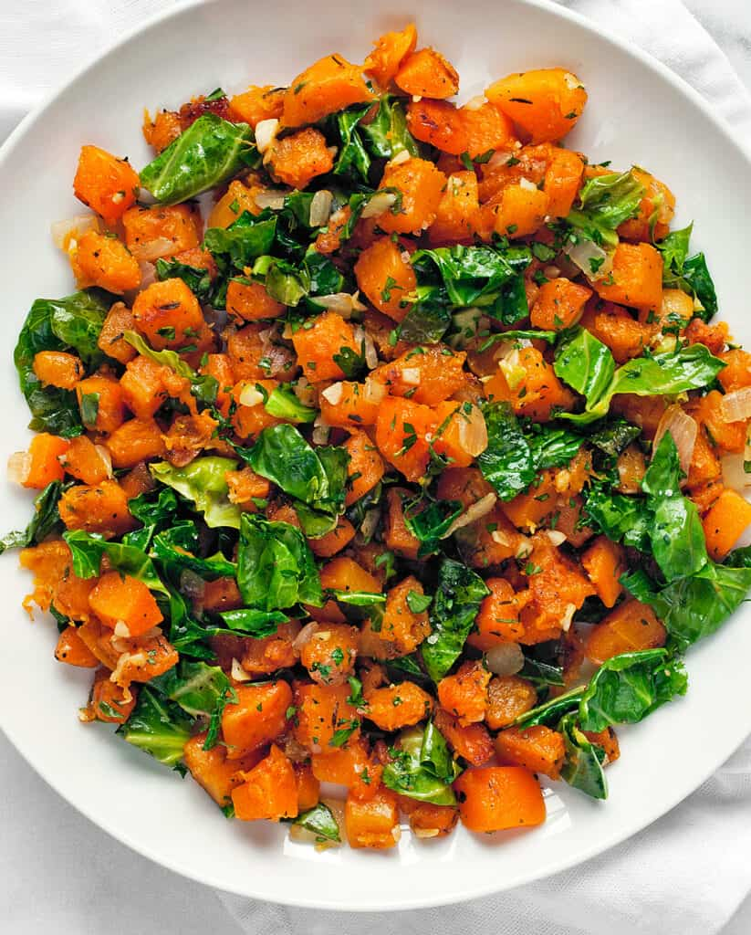 Sautéed Butternut Squash and Kale