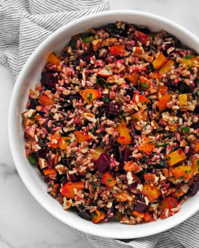 Roasted Beet Wild Rice