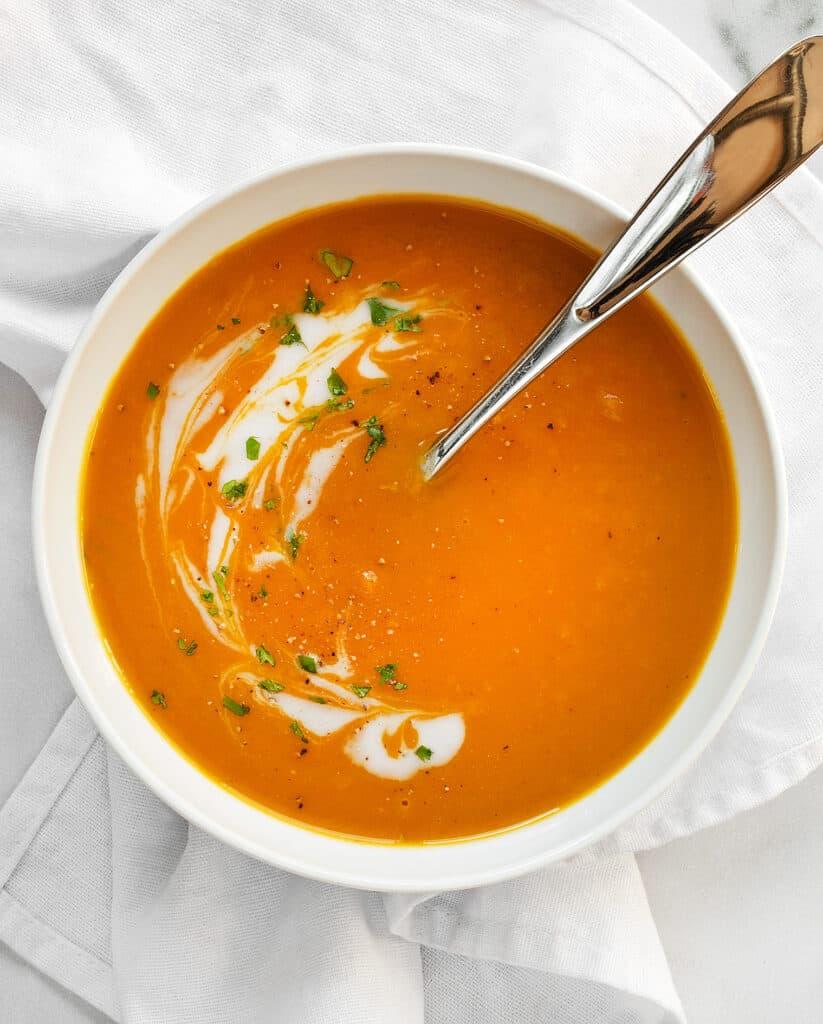 Turmeric Butternut Squash Apple Soup