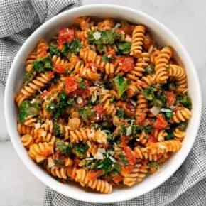 Creamy Tomato Mushroom Pasta