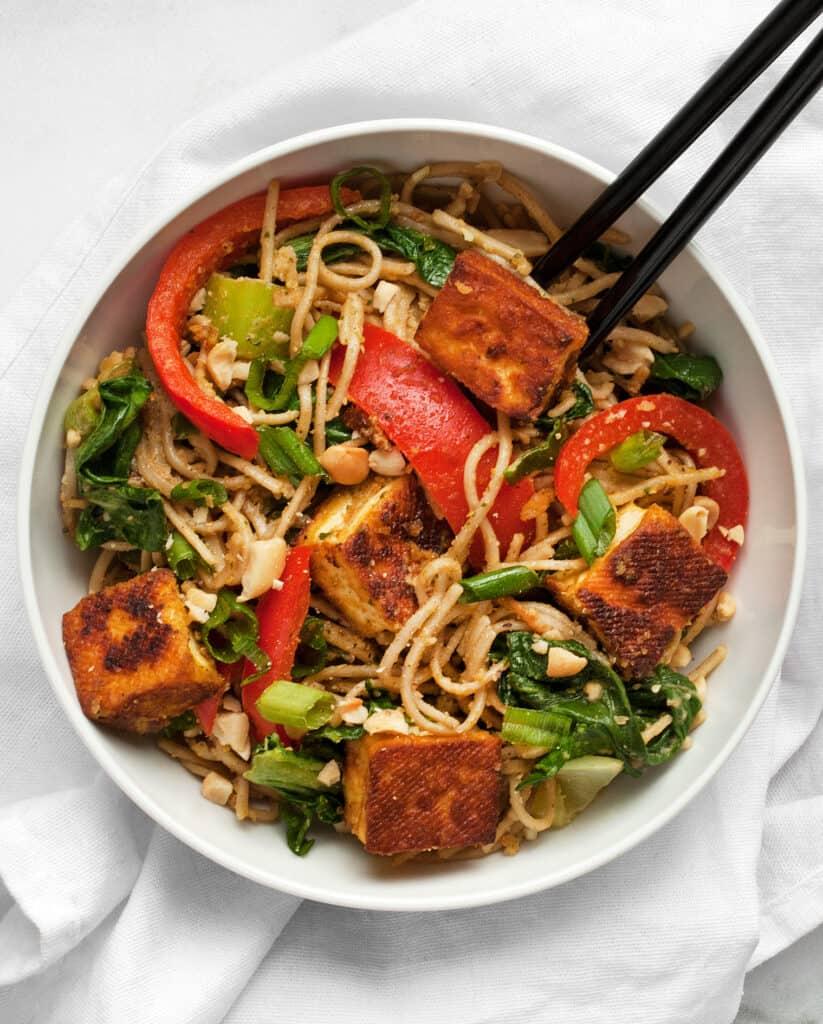 Tofu Peanut Vegetable Stir-Fry