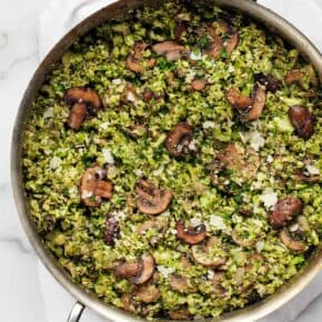 Balsamic Mushroom Broccoli Rice