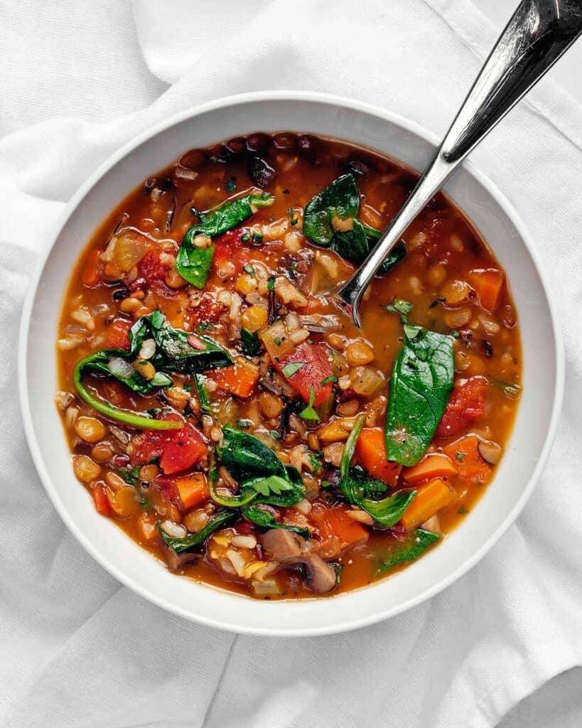 Lentil Wild Rice Soup