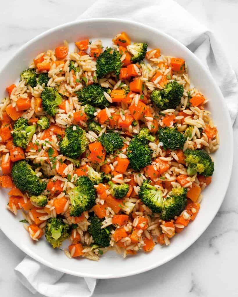 Roasted Butternut Squash Broccoli Orzo