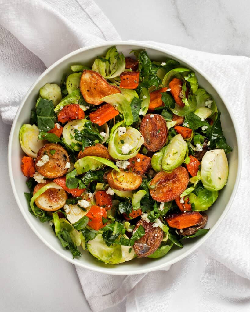 Roasted Potato Brussels Sprout Salad