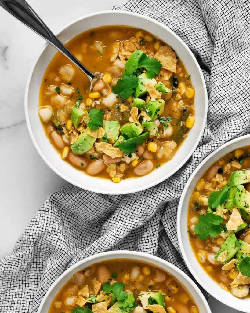 Vegan Poblano White Bean Chili